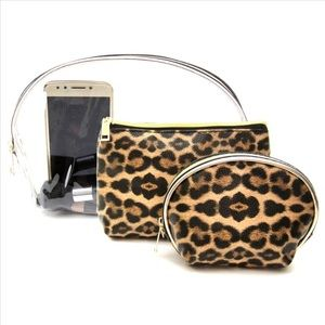 Handbags - 3 Pack Cheetah Travel Buddies